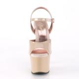 Beige 18 cm SKY-309TT sandali pleaser con suole dorato