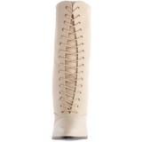 Beige 7 cm VICTORIAN-120 Stivaletti Stringati Tacco Alto Donna