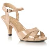 Beige 8 cm BELLE-315 scarpe per trans
