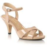 Beige 8 cm BELLE-315 transvestite shoes