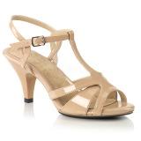 Beige 8 cm Fabulicious BELLE-322 high heeled sandals