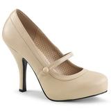 Beige Ecopelle 11,5 cm PINUP-01 grandi taglie scarpe décolleté
