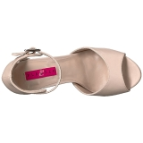 Beige Ecopelle 12,5 cm EVE-02 grandi taglie sandali donna