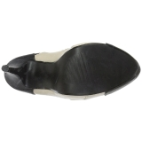 Beige Ecopelle 13,5 cm CHLOE-11 grandi taglie scarpe décolleté