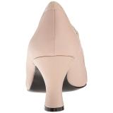 Beige Ecopelle 7,5 cm JENNA-06 grandi taglie scarpe décolleté