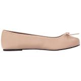 Beige Ecopelle ANNA-01 grandi taglie scarpe ballerine