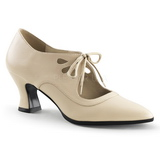 Beige Matte 7 cm VICTORIAN-03 Women Pumps Shoes Flat Heels