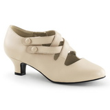 Beige Matto 5 cm retro vintage DAME-02 scarpe décolleté con tacchi bassi