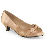 Beige Raso 5 cm FAB-422 grandi taglie scarpe décolleté