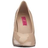 Beige Shiny 10 cm DREAM-420 Pumps High Heels for Men