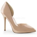 Beige Shiny 13 cm AMUSE-22 Pumps High Heels for Men