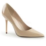 Beige Varnished 10 cm CLASSIQUE-20 big size stilettos shoes