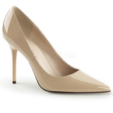 Beige Vernice 10 cm CLASSIQUE-20 scarpe tacchi a spillo con punta