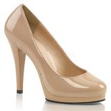 Beige Vernice 11,5 cm FLAIR-480 scarpe décolleté per uomo