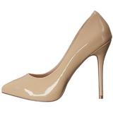 Beige Vernice 13 cm AMUSE-20 scarpe tacchi a spillo con punta