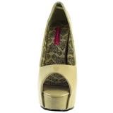 Beige Vernice 14,5 cm TEEZE-22 Scarpe Décolleté Tacco Stiletto