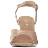 Beige Vernice 8 cm BELLE-309 Sandali Donna con Tacco