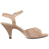Beige Vernice 8 cm BELLE-309 scarpe tacco alto numeri grandi per uomo