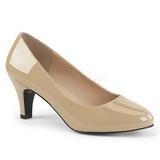 Beige Vernice 8 cm DIVINE-420W scarpe décolleté con tacchi bassi