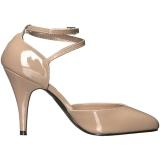 Beige Verniciata 10 cm DREAM-408 grandi taglie scarpe décolleté