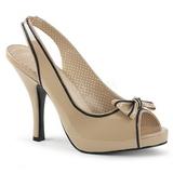 Beige Verniciata 11,5 cm PINUP-10 grandi taglie sandali donna