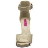 Beige Verniciata 12,5 cm EVE-02 grandi taglie sandali donna