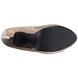 Beige Verniciata 13,5 cm CHLOE-01 grandi taglie scarpe décolleté