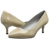 Beige Verniciata 6,5 cm KITTEN-01 grandi taglie scarpe décolleté