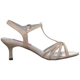 Beige Verniciata 6 cm KITTEN-06 grandi taglie sandali donna