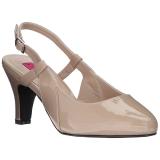 Beige Verniciata 7,5 cm DIVINE-418 grandi taglie scarpe décolleté