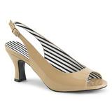 Beige Verniciata 7,5 cm JENNA-02 grandi taglie sandali donna