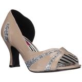 Beige Verniciata 7,5 cm JENNA-03 grandi taglie scarpe décolleté