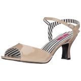 Beige Verniciata 7,5 cm JENNA-09 grandi taglie sandali donna