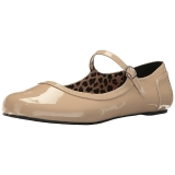 Beige Verniciata ANNA-02 grandi taglie scarpe ballerine