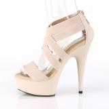 Beige banda elasticizzata 15 cm DELIGHT-669 scarpe da donna pleaser