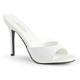 Bianco 10 cm CLASSIQUE-01 ciabatta donna tacco basso
