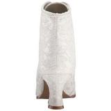 Bianco 12 cm VICTORIAN-30 Stivaletti Stringati Tacco Alto Donna
