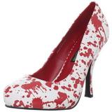 Bianco 13 cm BLOODY-12 Scarpe da donna con tacco altissime