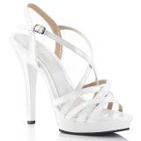 Bianco 13 cm Fabulicious LIP-113 sandali tacchi a spillo