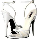 Bianco 15 cm Devious DOMINA-108 sandali tacchi a spillo