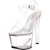 Bianco 18 cm TIPJAR-708-5 Plateau scarpe da pole dance