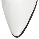 Bianco 7 cm VICTORIAN-120 Stivaletti Stringati Tacco Alto Donna