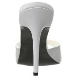 Bianco Ecopelle 10 cm CLASSIQUE-01 grandi taglie ciabatta donna