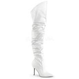 Bianco Ecopelle 10 cm CLASSIQUE-3011 Stivali alti e sopra al ginocchio