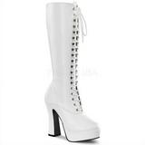 Bianco Matto 13 cm ELECTRA-2020 Stivali Donna da Uomo