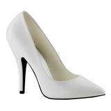 Bianco Matto 13 cm SEDUCE-420 Scarpe Décolleté Tacco Basso