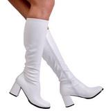 Bianco Matto 8,5 cm GOGO-300 Stivali Donna da Uomo