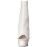 Bianco Opaco 15 cm DELIGHT-1018 Plateau Stivaletti Donna