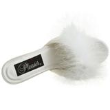 Bianco Piume 8 cm AMOUR-03 Scarpe Zoccoli da Uomo