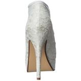Bianco Raso 13 cm LOLITA-32 Scarpe Décolleté da Sera